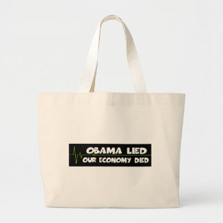 Obama lied canvas bags