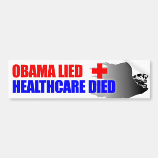Obama Lied Bumper Sticker