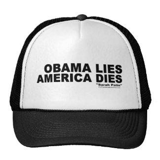 Obama Lies-America Dies Trucker Hat
