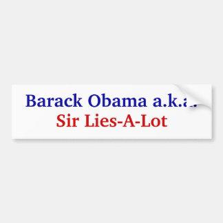 Obama lies. bumper sticker