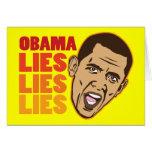 Obama Lies Lies Lies Card