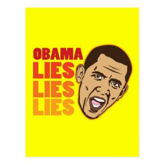Obama Lies Lies Lies Postcard