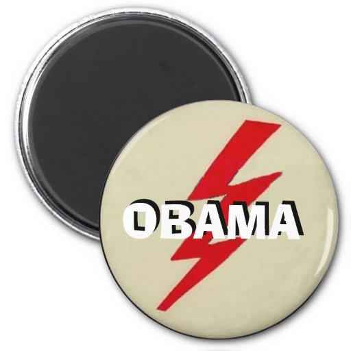 Obama Lightning Bolt Magnet Fridge Magnets