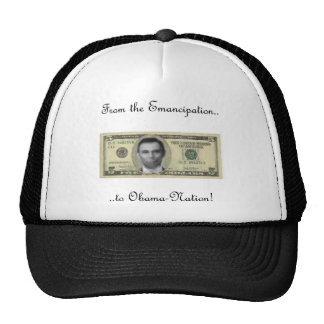 Obama/Lincoln Connection Trucker Hat