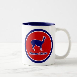 Obama Llama Two-Tone Two-Tone Coffee Mug