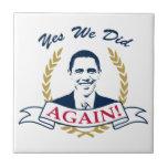 Obama lo hicimos sí otra vez el color V2 Azulejo Ceramica