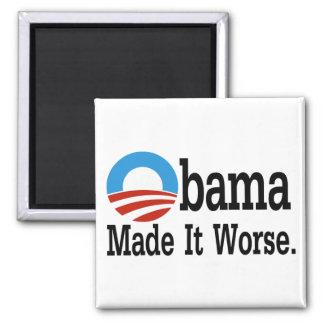 Obama lo hizo peor imán cuadrado