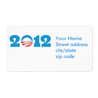 Obama Logo 2012 Label