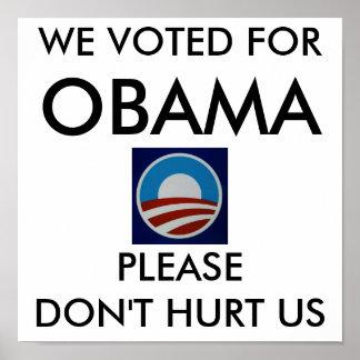 Obama-logo-712385, VOTAMOS POR, OBAMA, POR FAVOR… Póster