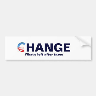 obama logo, Change, What's left after... Bumper Stickers