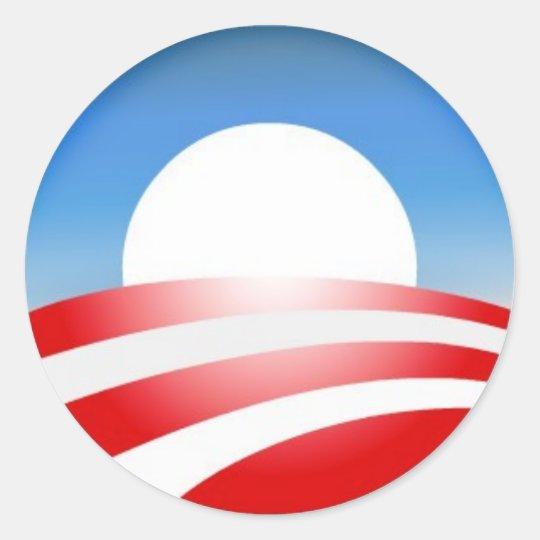 Obama Logo Classic Round Sticker
