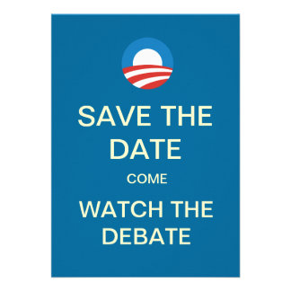 Obama Logo Debate Watch Party Invitations