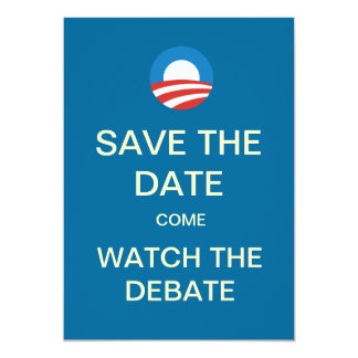 "Obama Logo Debate Watch Party Invitations 5"" X 7"" Invitation Card"