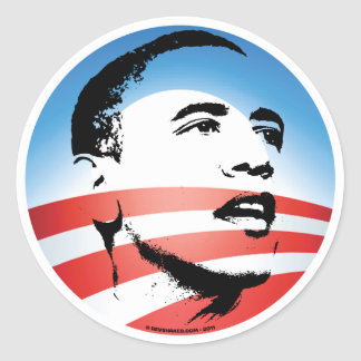 Obama Logo - Plain Classic Round Sticker
