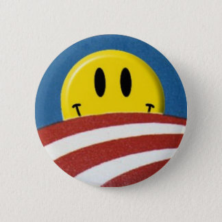 Obama Logo Smiley Face Button