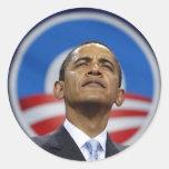 obama-logotipo etiquetas redondas