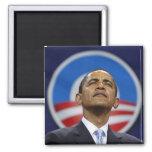 obama-logotipo imán de frigorífico
