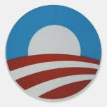 Obama-logotipo Pegatina Redonda