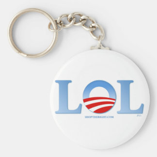Obama LOL Basic Round Button Keychain