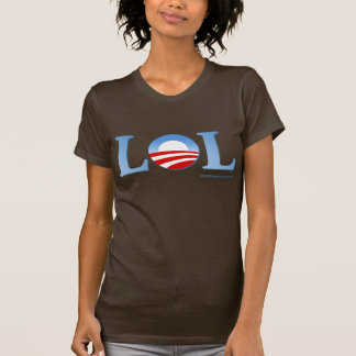 Obama LOL Ladies Dark T-shirt