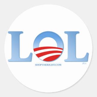 Obama LOL Pegatina Redonda