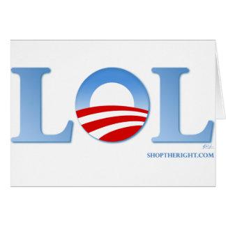 Obama LOL Tarjeta De Felicitación