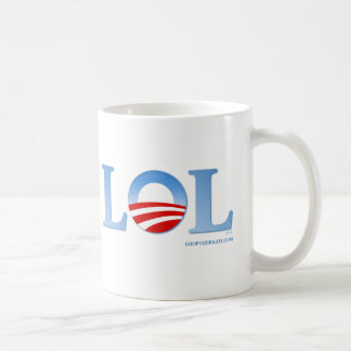 Obama LOL Taza Básica Blanca