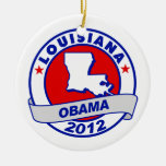 Obama - Lousiana Christmas Ornament