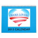 Obama Lovers 2013 Calendar