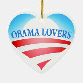 Obama Lovers Heart Logo - Ornament