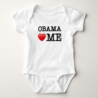 Obama loves me infant creeper