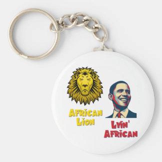Obama Lyin' African/ African Lion Keychain