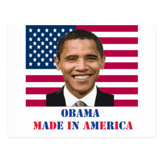 Obama Made in America Postcard
