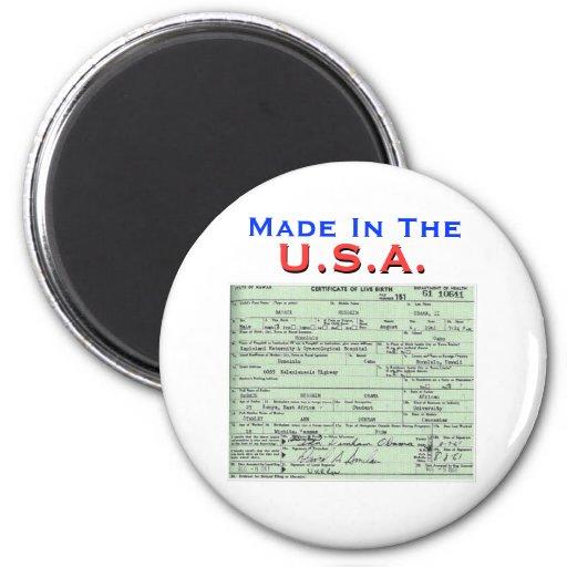 Obama: Made In The U.S.A. Fridge Magnets