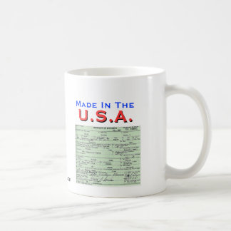Obama: Made In The U.S.A. Classic White Coffee Mug