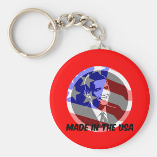 Obama made in the USA Keychain