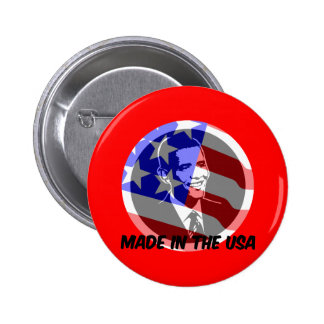 Obama made in the USA Pins