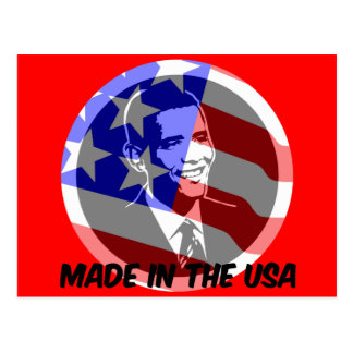 Obama made in the USA Postcard