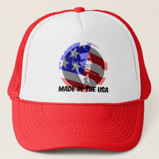 Obama made in the USA Trucker Hat
