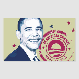 Obama - Made In USA Rectangle Stickers