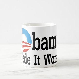 Obama Made It Worse Classic White Coffee Mug