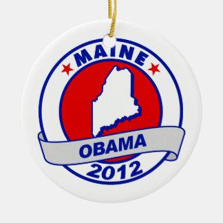 Obama - Maine Ornaments