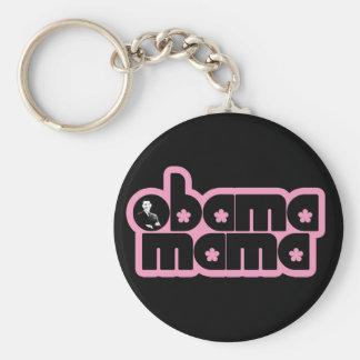 obama mama basic round button keychain