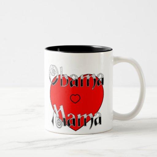 Obama Mama Big Red Heart Mug