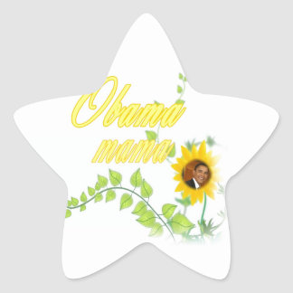 OBAMA MAMA CUTE STAR STICKER