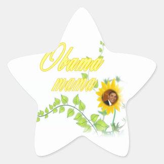 OBAMA MAMA CUTE STAR STICKER