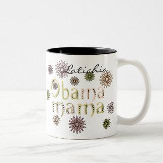 Obama Mama Personalize Name Flowers2 Mug