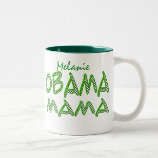 Obama Mama Personalize Name Green Mug