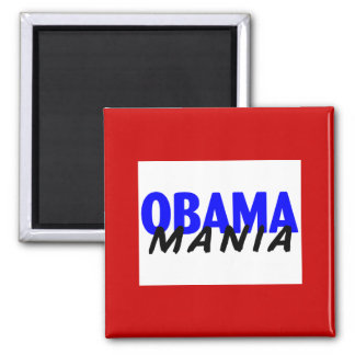 Obama-Mania 2 Inch Square Magnet