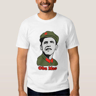 Obama Mao Shirt - Womens Vintage Destroyed Tee